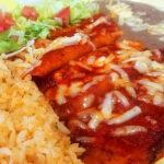 Enchiladas rojas de queso